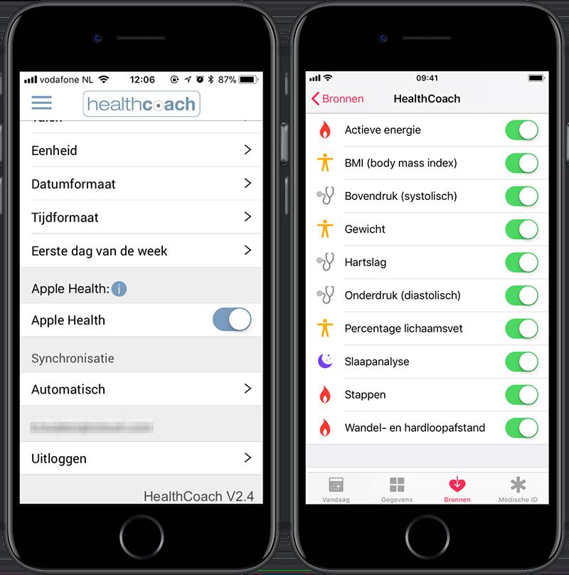 HealthCoach: Sanitas koppelen met HealthKit