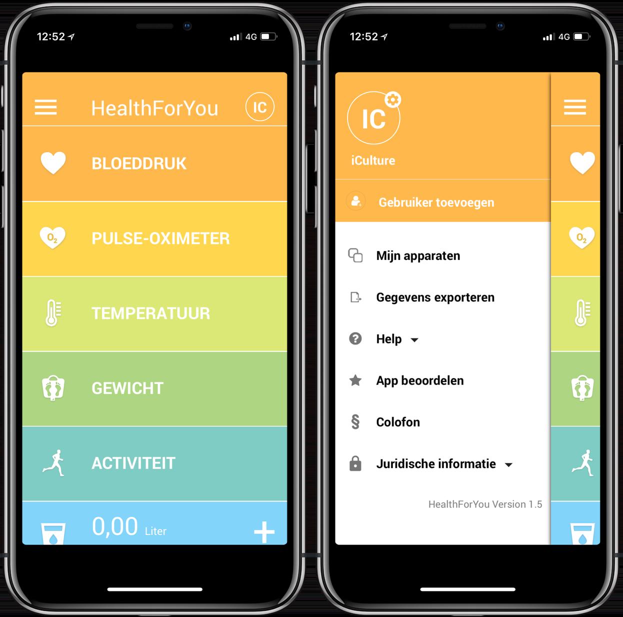 HealthForYou app instellen