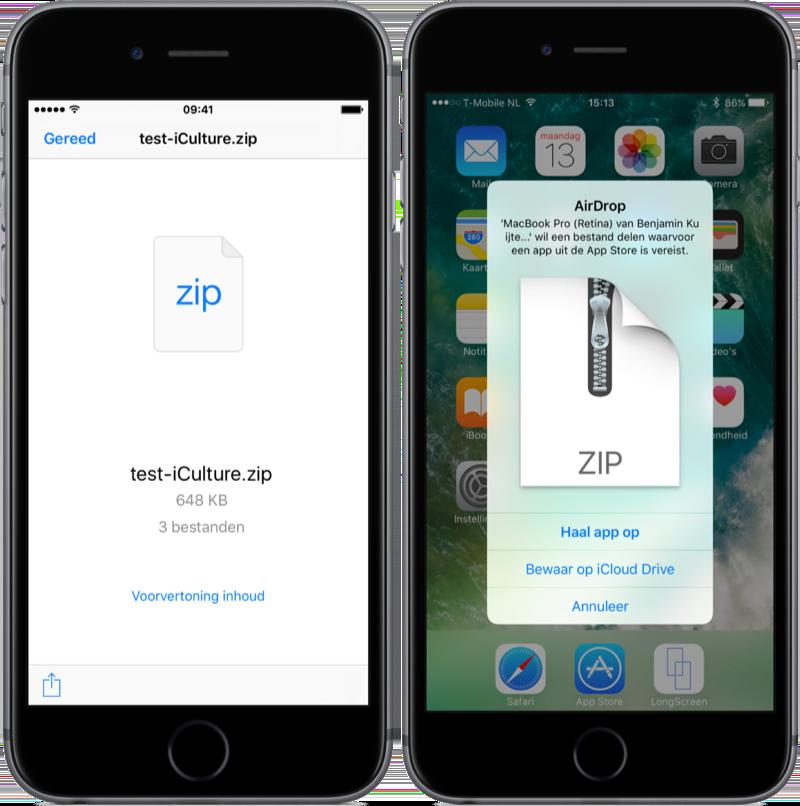 Zip-bestanden openen op de iPhone.