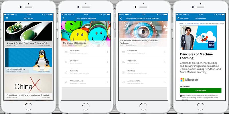 edX-app voor iPhone