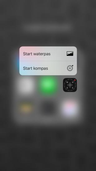 Kompas-app met 3D Touch in iOS 9.