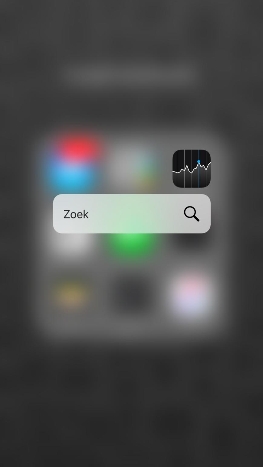 Aandelen-app met 3D Touch in iOS 9.