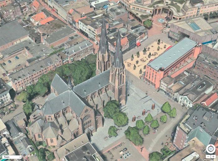 Eindhoven in 3D op Apple Kaarten