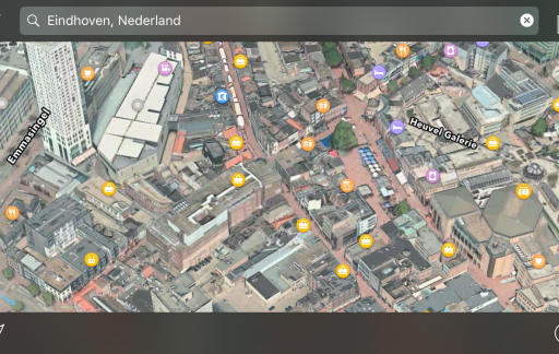 Eindhoven in 3D in Apple Maps