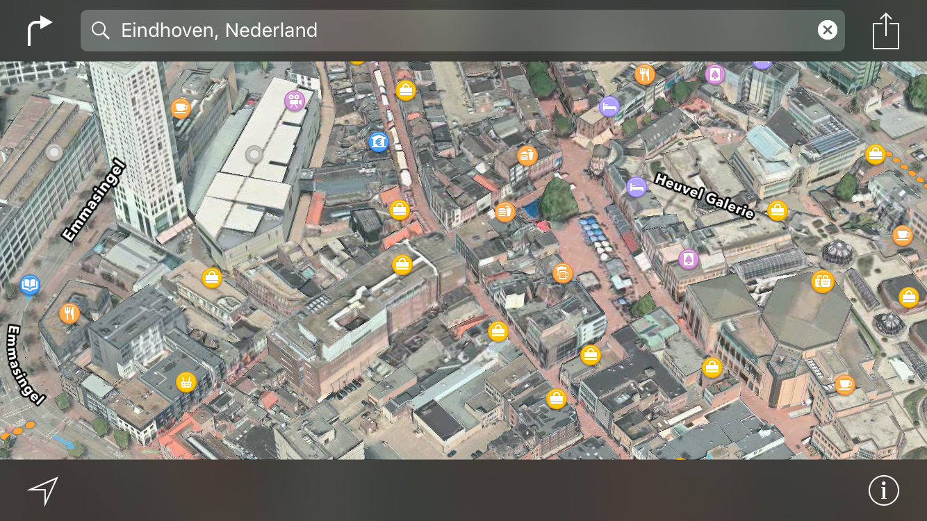 Eindhoven Flyover in Apple Maps