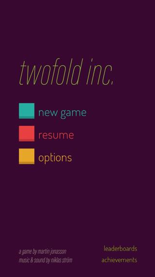 Twofold Inc. opstartscherm