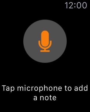 WatchNotes microfoon