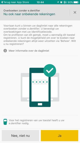 Identificatiecode vanABN AMRO-app