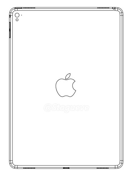 Een schematische tekening van de iPad Air 3.