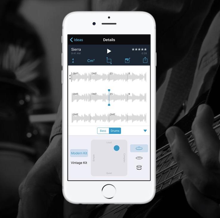 Muziekmemo's afspelen en aanpassen op de iPhone.