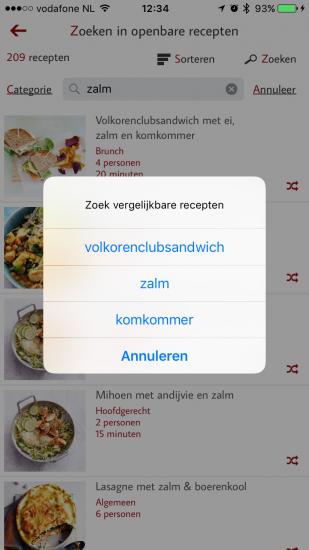 Vergelijkbare recepten zoeken in Receptenmaker.