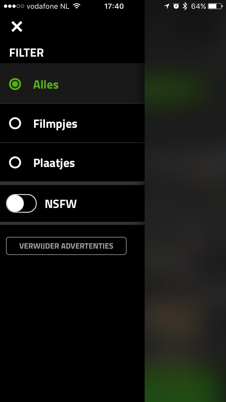 Filteren voor content in Dumpert.