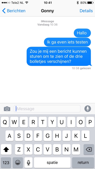 iMessage-Bolletjes