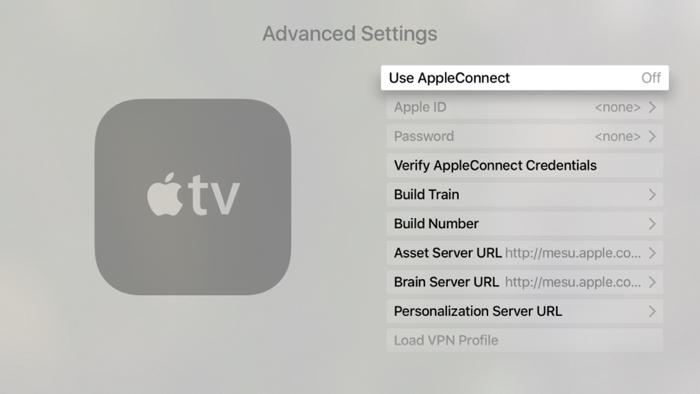 Verborgen instellingen op de Apple TV zichtbaar maken