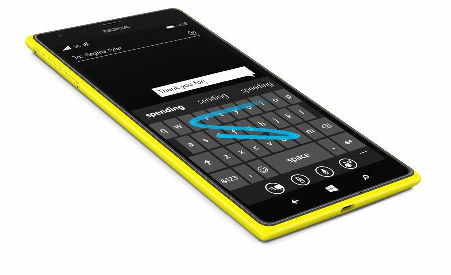 Word Flow toetsenbord op een Nokia