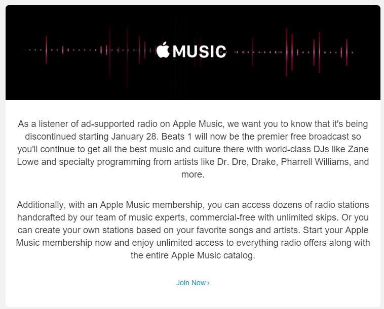 iTunes Radio gaat stoppen