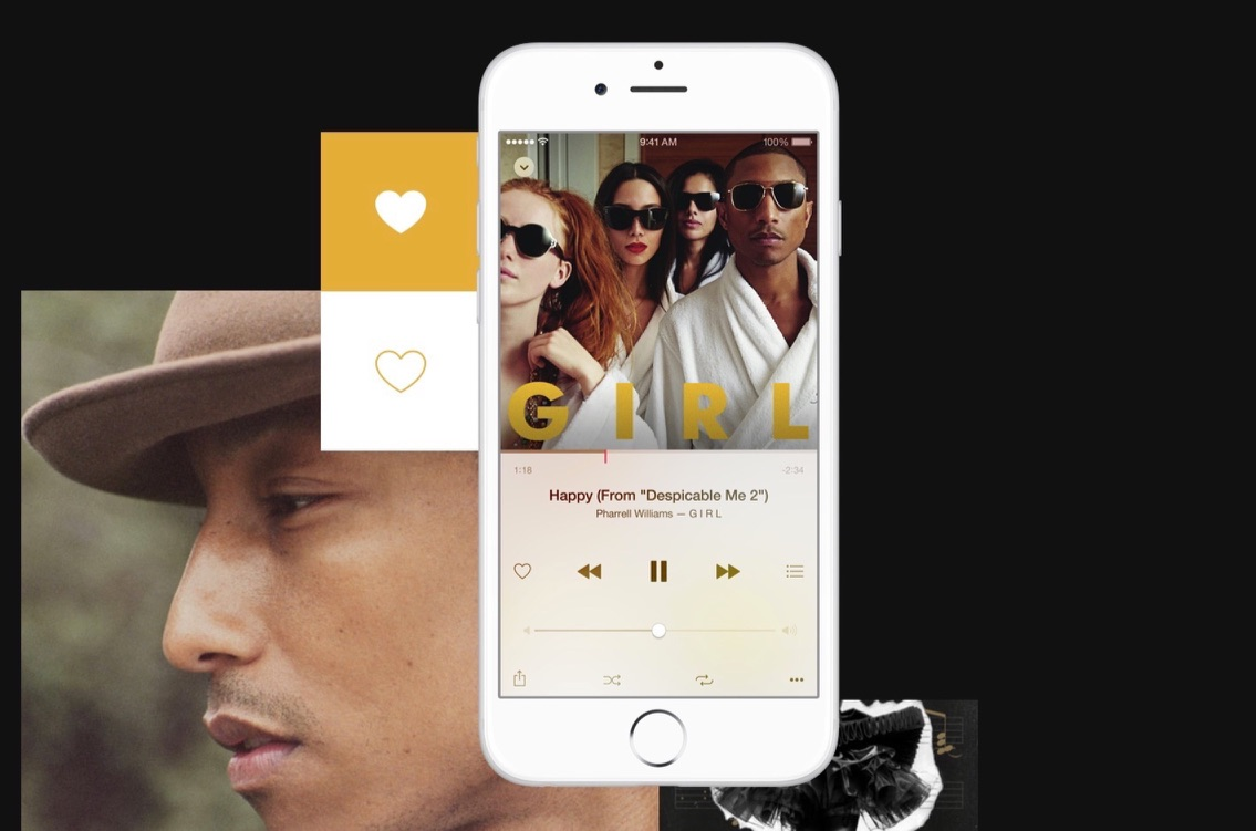 Een hartje geven aan een nummer in Apple Music.