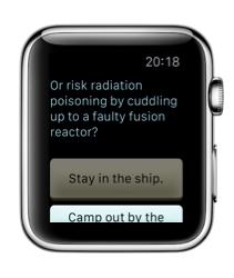 Lifeline op de Apple Watch met het maken van een keuze.
