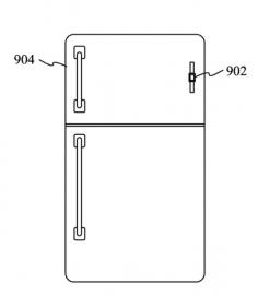 Magnetisch bandje voor de Apple Watch aan je koelkast hangen volgens patent.