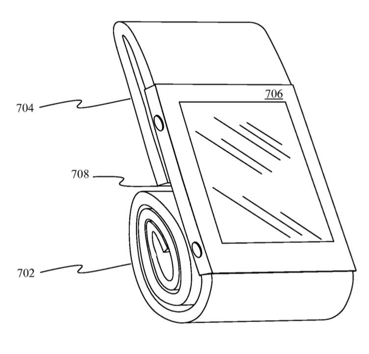Magnetisch bandje voor de Apple Watch als houder beschreven in een patent.