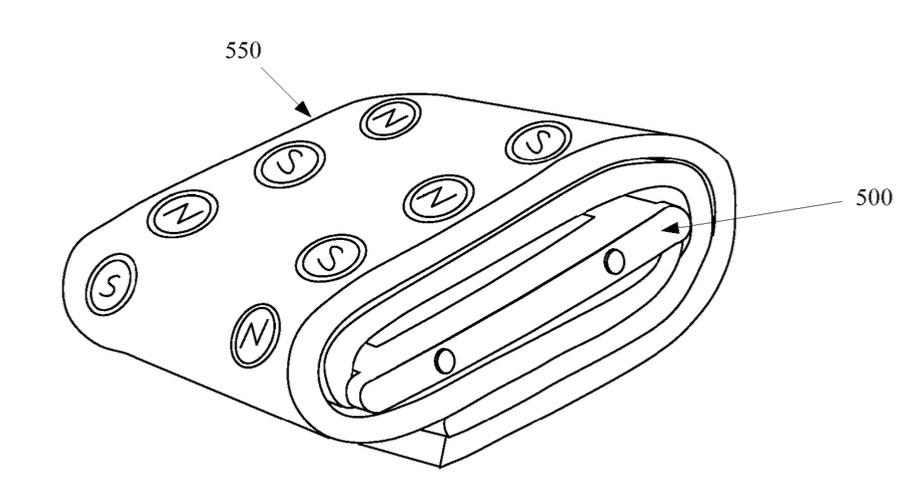 Magnetisch bandje voor de Apple Watch als bescherming beschreven in een patent.