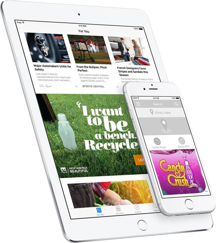 iAd reclame op iPhone en iPad