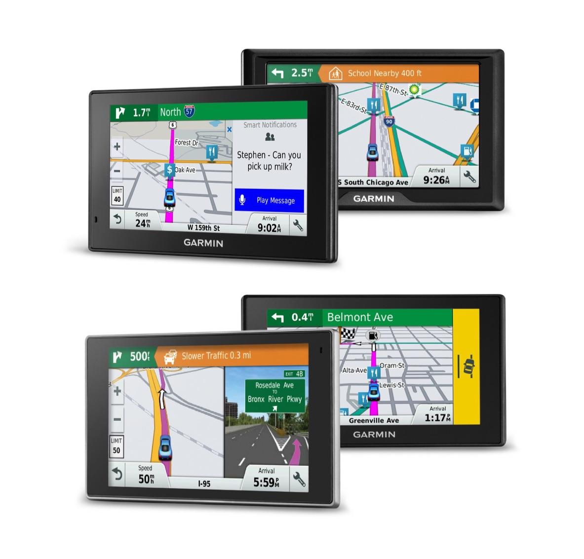 Line-up van Garmin Drive-navigatiesystemen.