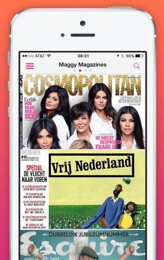 Maggy tijdschriften-app: een selectie van beschikbare tijdschriften