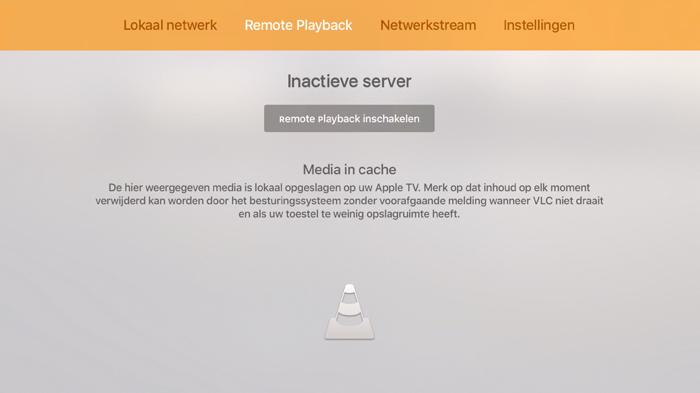 VLC inactieve server