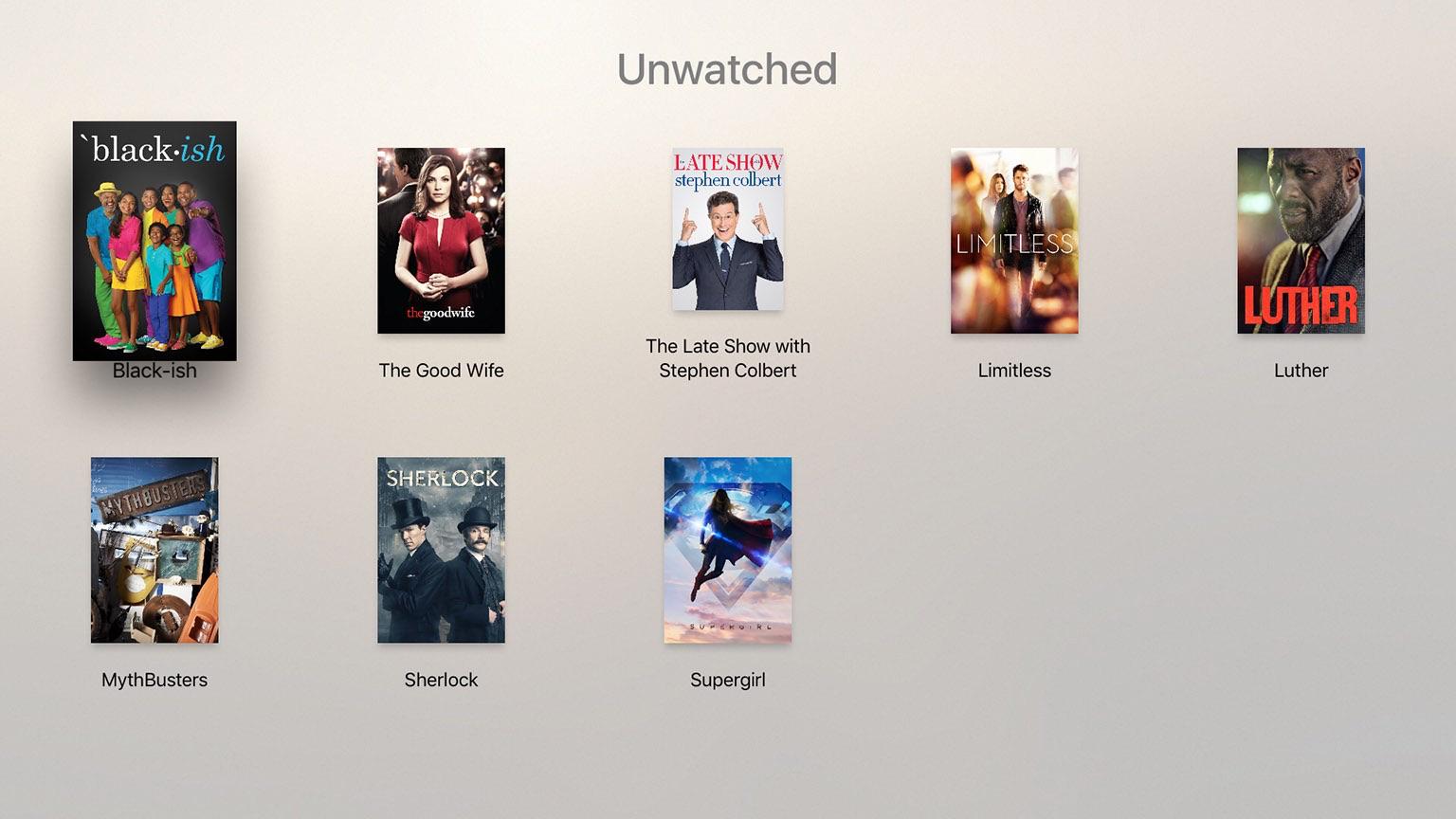 VLC op de Apple TV met nog niet bekeken films.