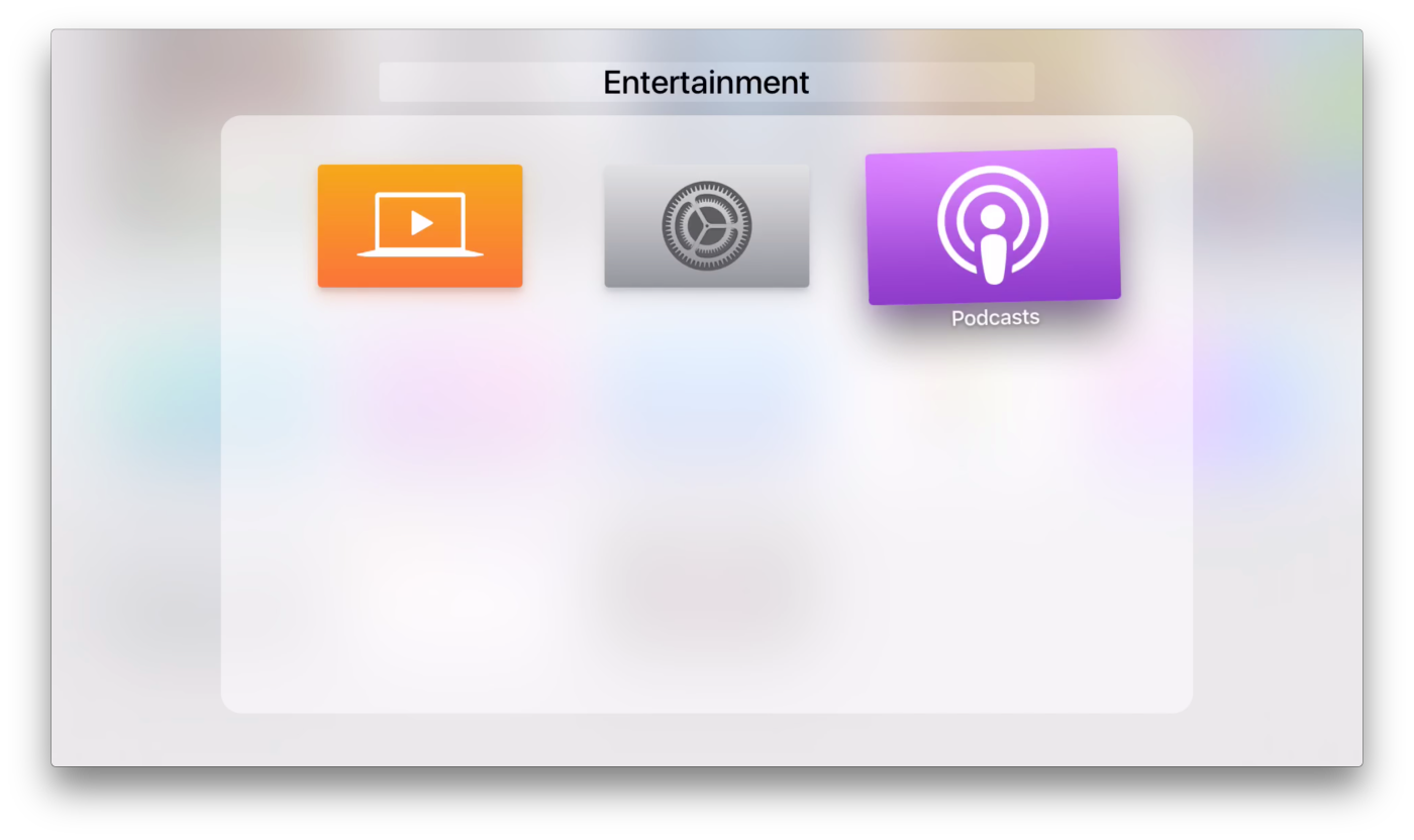 Mappen in tvOS 9.2 voor de Apple TV.