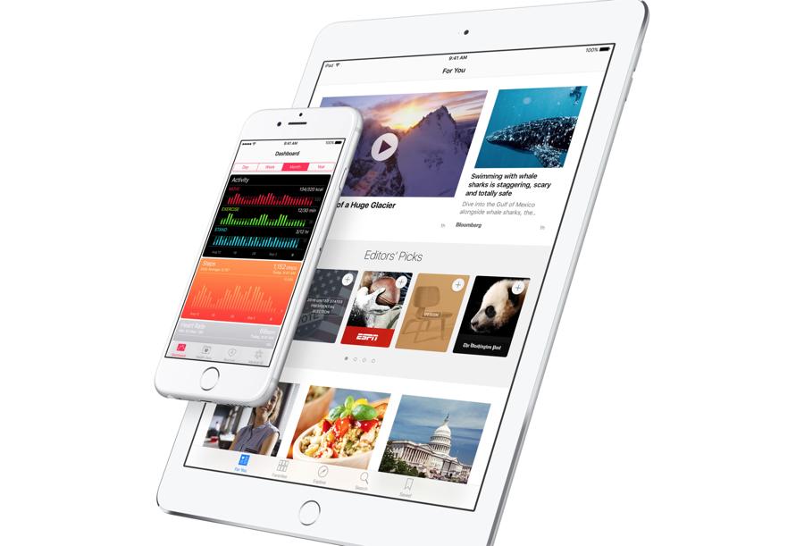 De Gezondheid-app van iOS 9.3 en Apple News op de iPad.