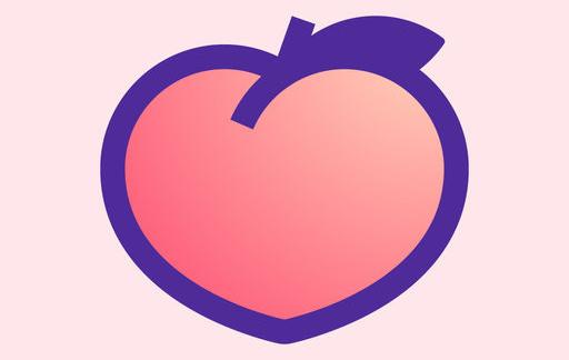 Peach-icoon groot