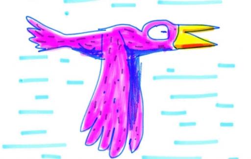 Animatic by Inkboard-animatie met vogel.