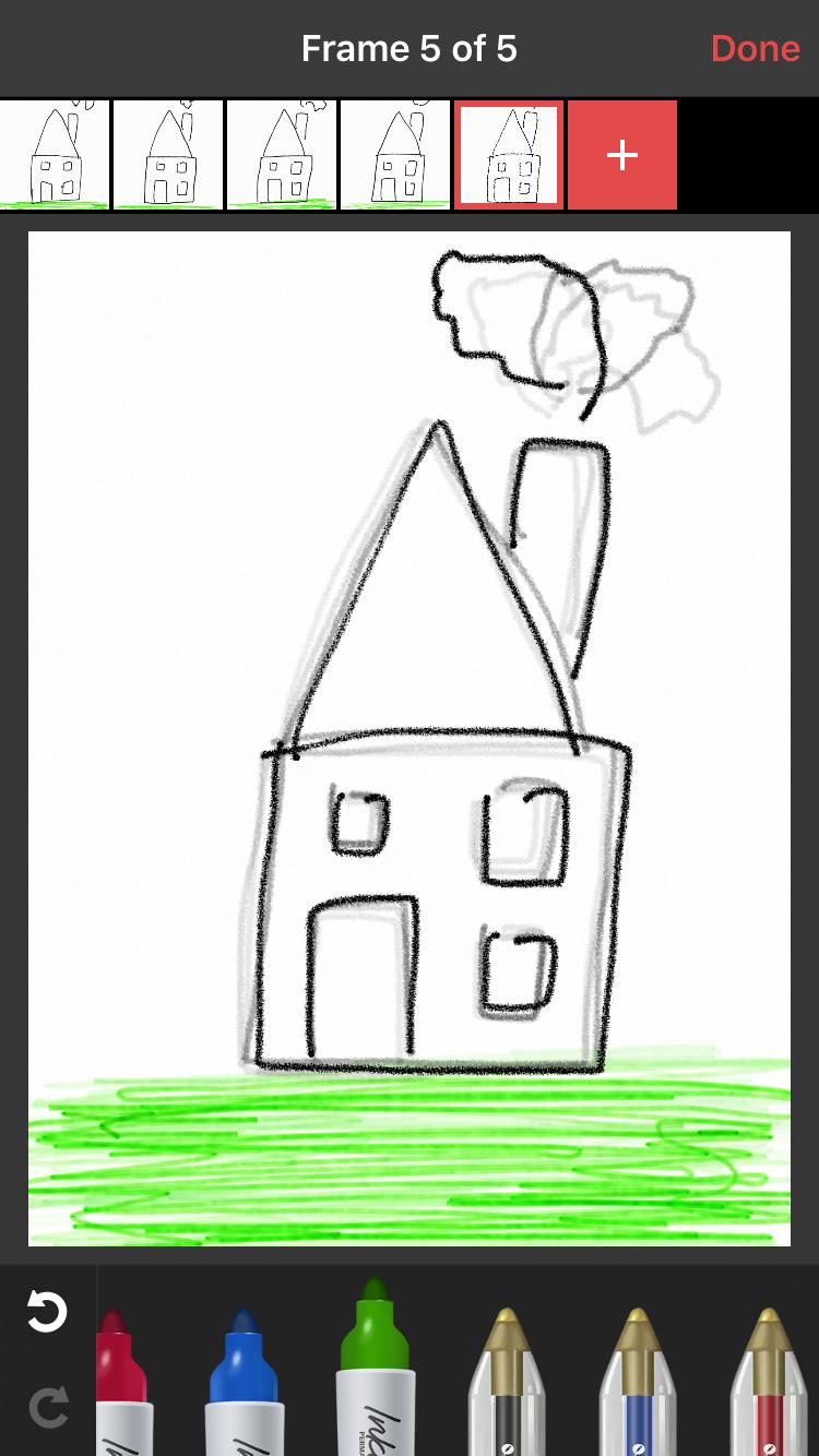 Animatic-tekening van een huis.