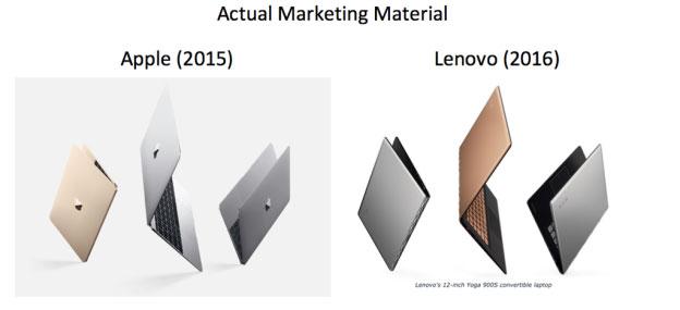 Lenovo nagemaakte reclame
