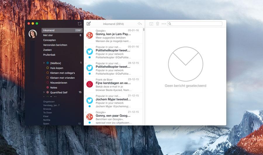 Airmail op de Mac: berichten bekijken