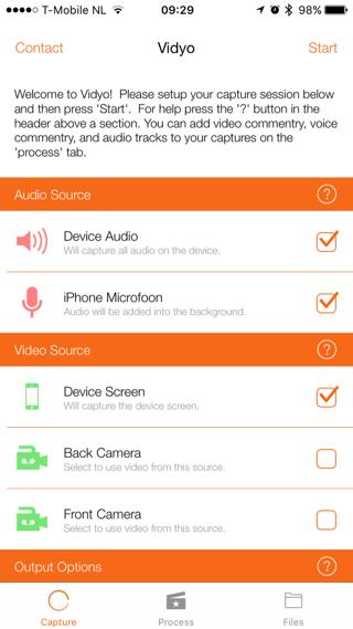 Vidyo heeft allerlei instellingen, bijvoorbeeld voor audio en beeldresolutie