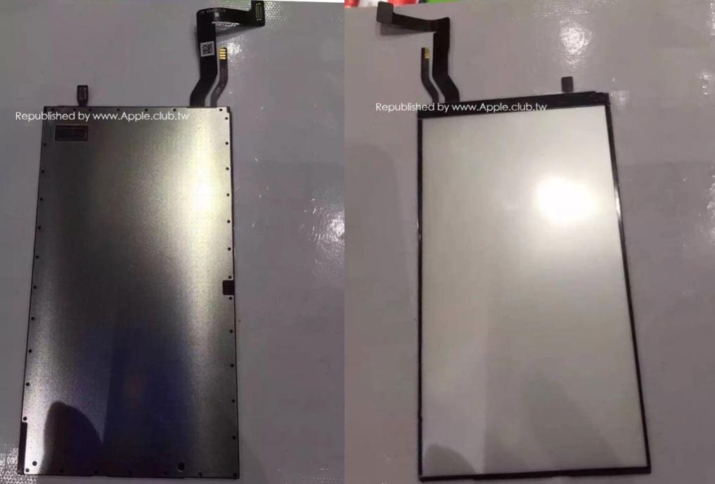 Backlight-onderdeel van iPhone 7 laat andere locatie aansluitingen zien.