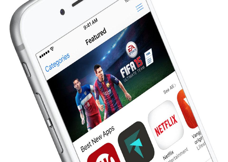 App Store op een iPhone