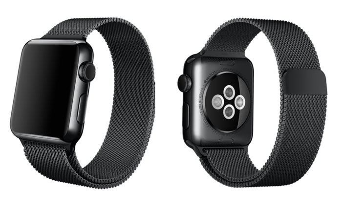 Space Black Milanese Loop voor Apple Watch