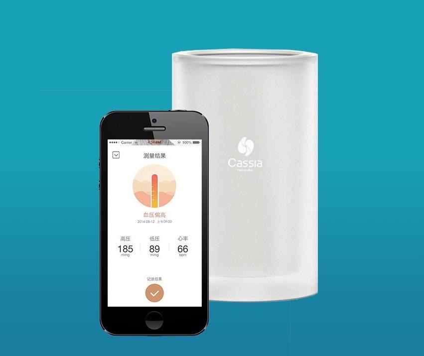 Cassia Hub met app voor bediening Bluetooth-apparaten.
