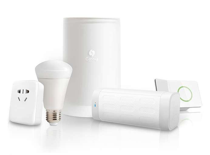 Cassia Hub met andere Bluetooth-producten.