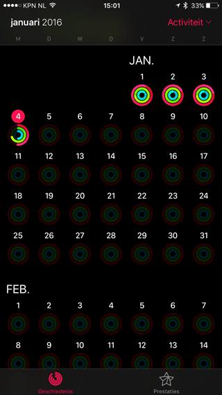 Activiteit-ringen volmaken op de iPhone