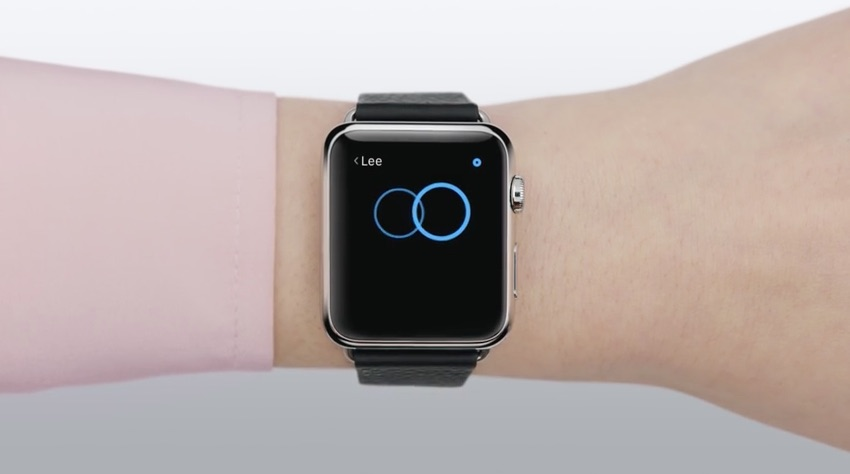 Iemand aantikken met Digital Touch op de Apple Watch