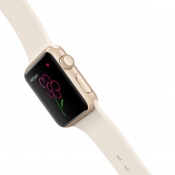 Digital Touch op de Apple Watch met gekleurde bloem.
