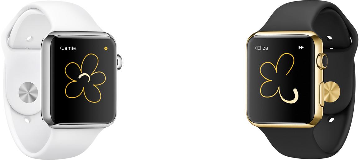 Digital Touch op de Apple Watch.