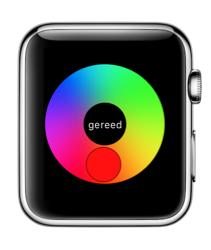 Nieuwe kleuren selecteren voor Digital Touch.