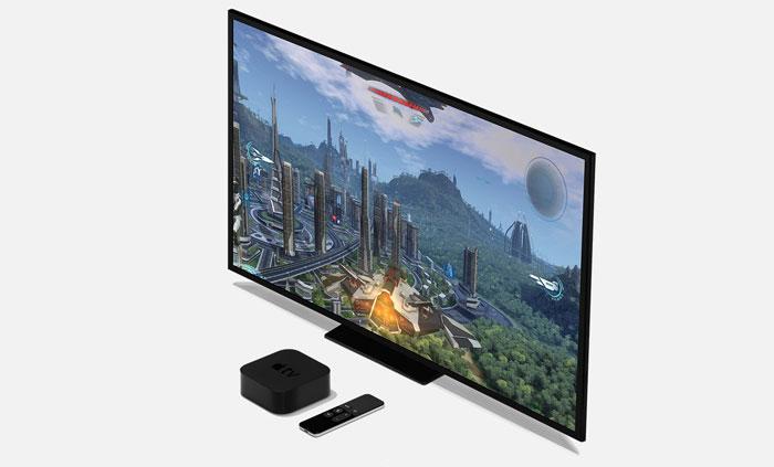 Apple TV 4 met televisiescherm