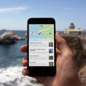 Curiosity voor de iPhone langs de kust.